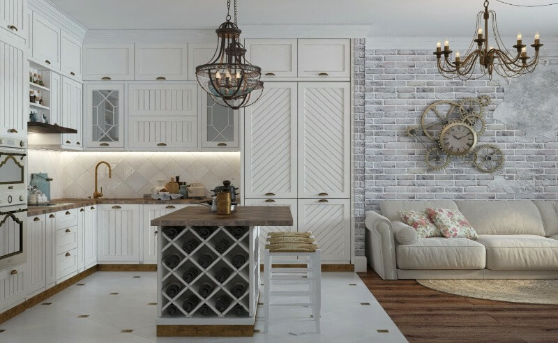 кухня студія в стилі прованс