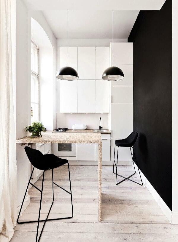 маленькая кухня минимализм
