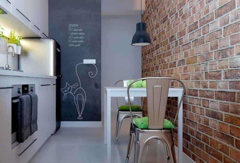отделка стен в маленькой кухне