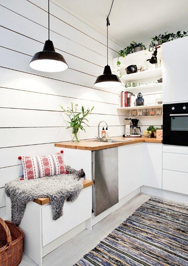 маленькая кухня скандинавский стиль