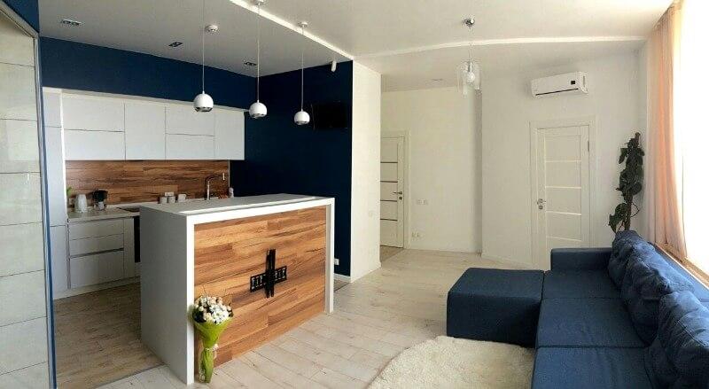 маленькая кухня студия