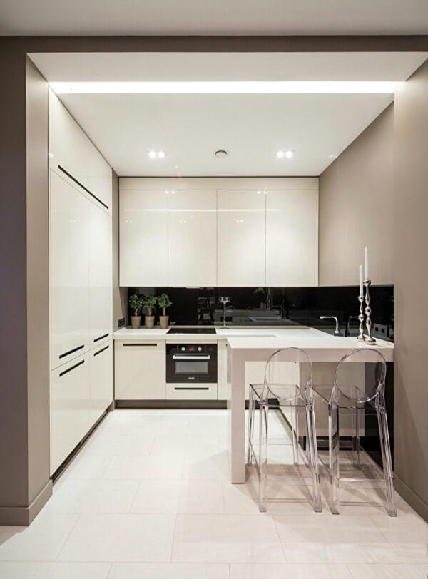 планировка маленькой кухни в стиле минимализм