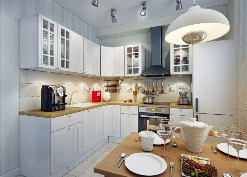 освещение маленькой кухни