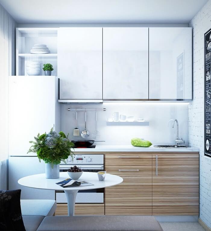 планировка кухни 6 м2