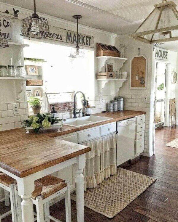 прованс стиль в интерьере маленькой кухни