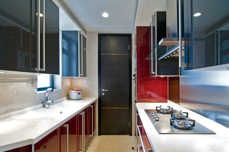 планировка узкой прямоугольной кухни