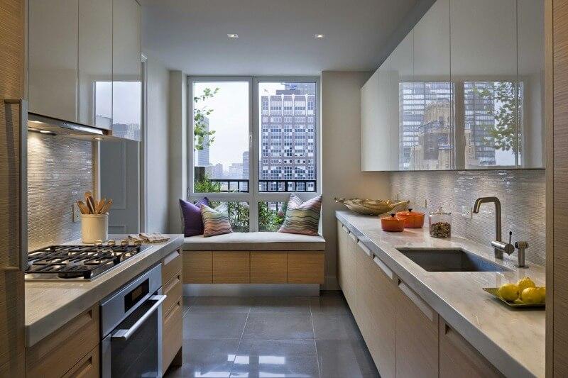 узкая кухня планировка