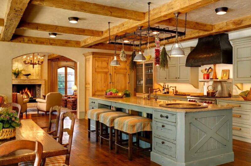 балки на стелі кухня