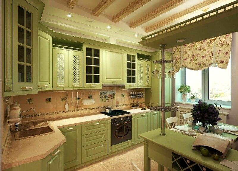 фісташка кухня в стилі прованс