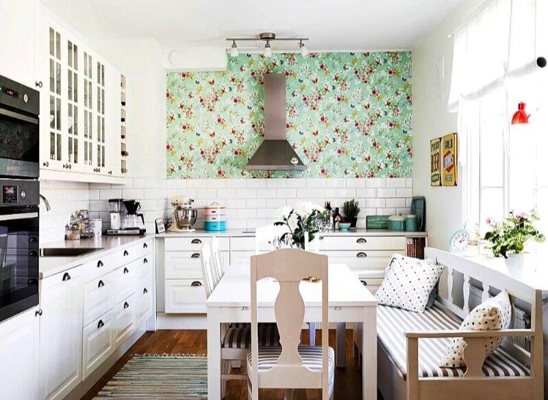 кухня шпалери в стилі прованс