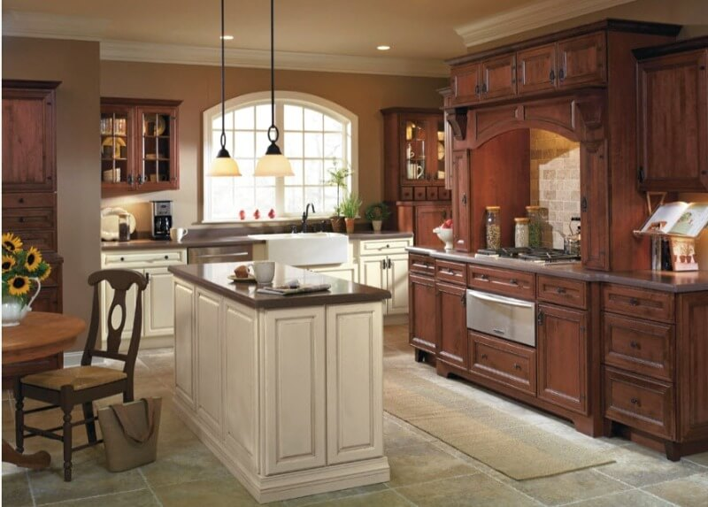 кухня прованс обробка підлоги