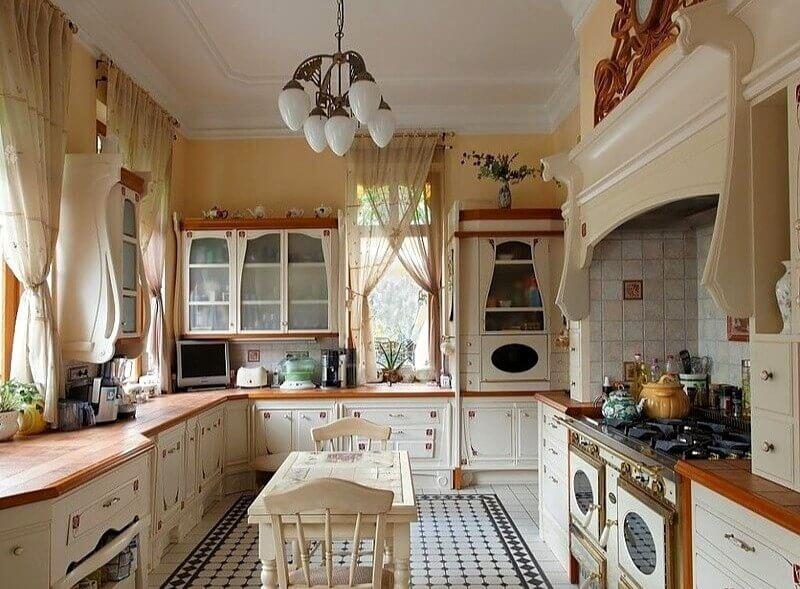 кухня прованс в бежевому кольорі