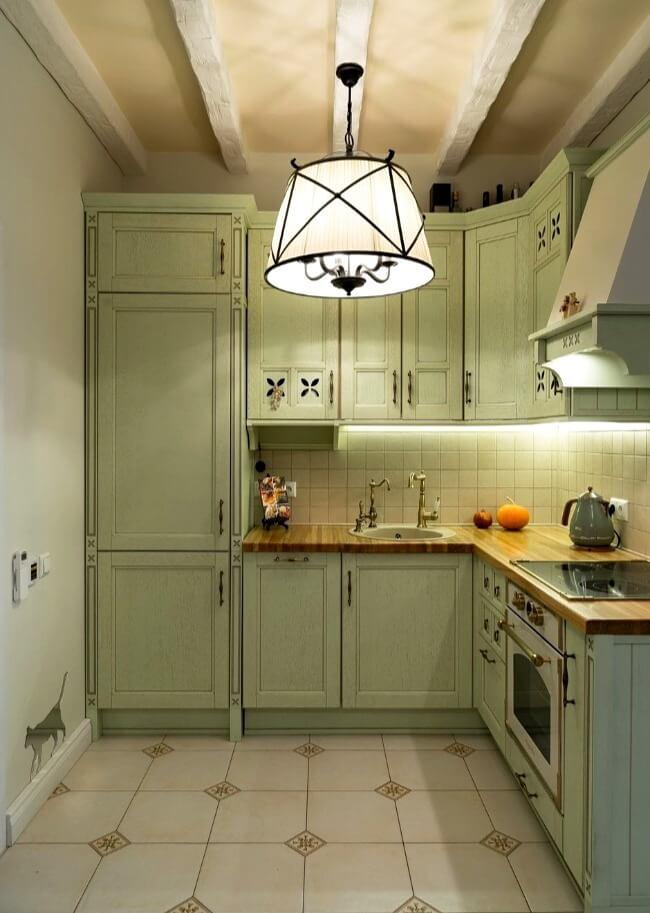 кухня прованс підлога