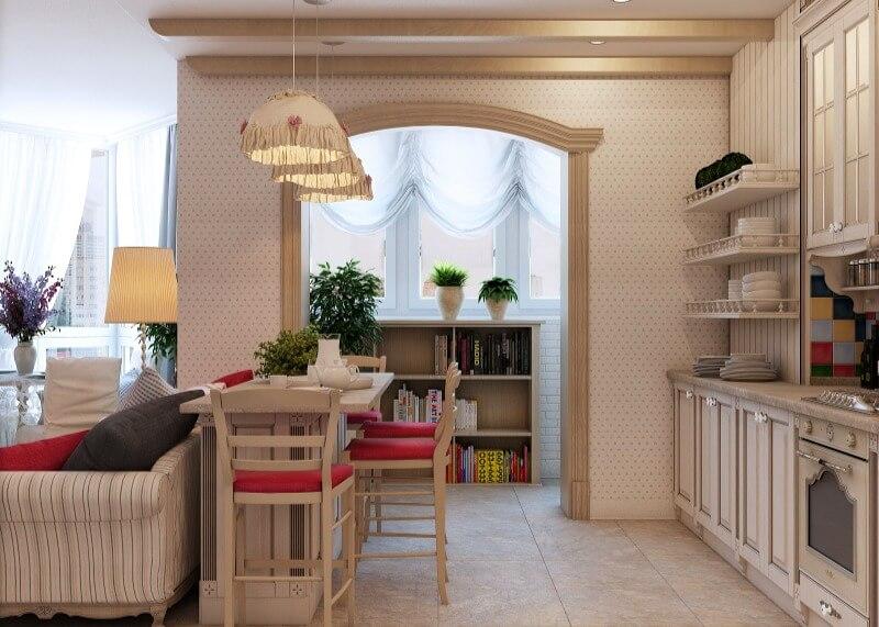 кухня в стилі прованс освітлення