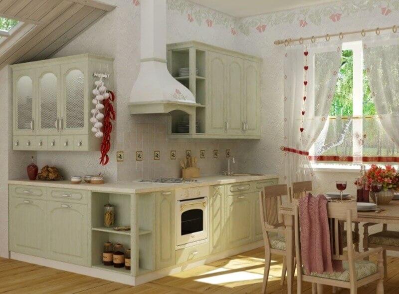 шпалери на кухні прованс