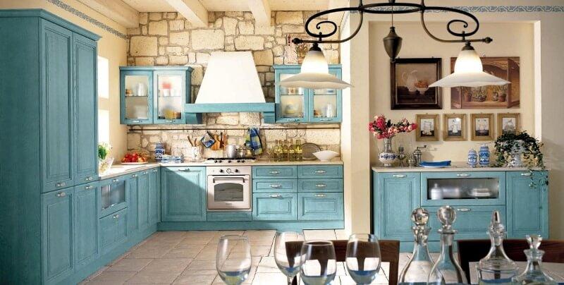 освітлення на кухні прованс