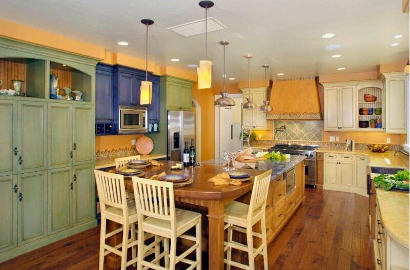 прованс стиль на кухні хаотичність