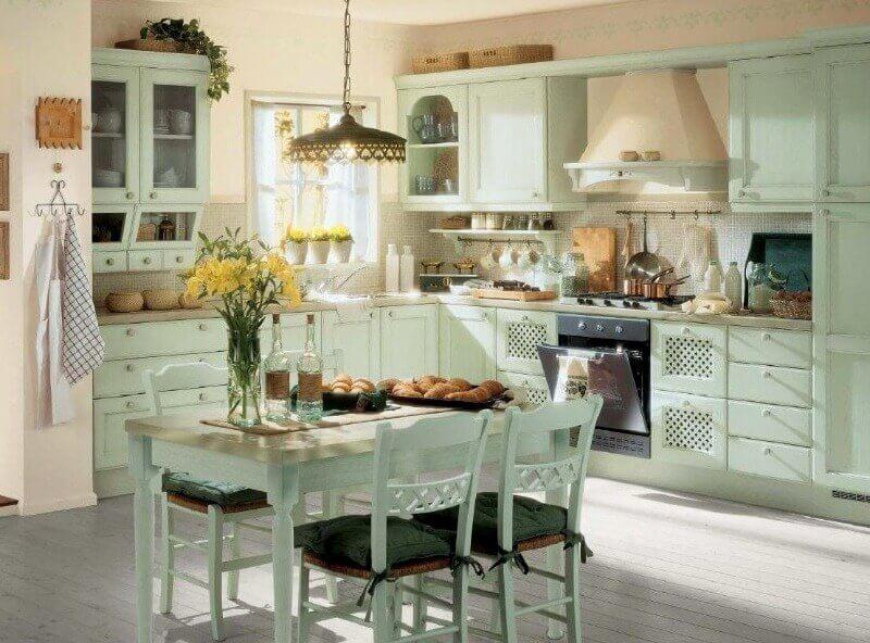 стільці з дерева прованс-кухня