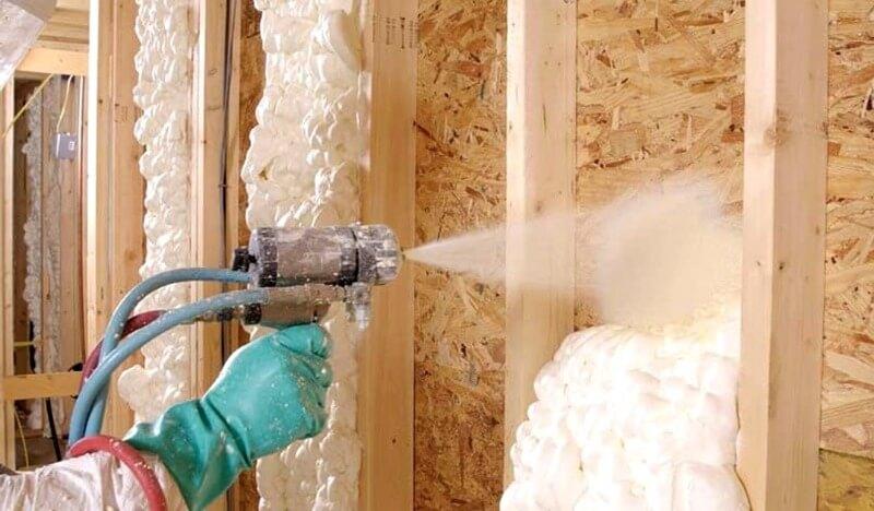 утепление стен изнутри пенополиуретаном