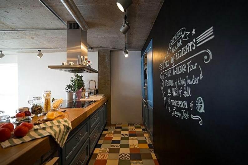 кухня лофт обробка стін