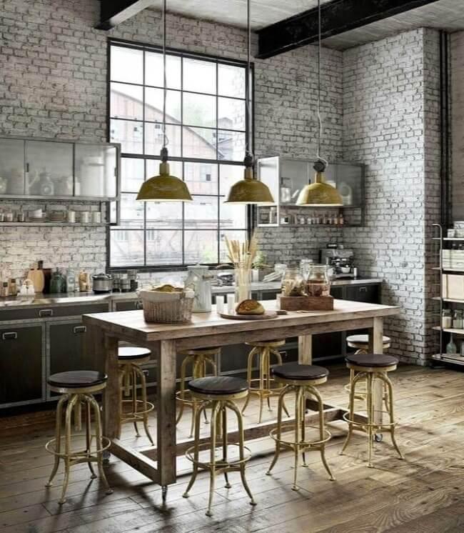 кухня лофт сірого кольору