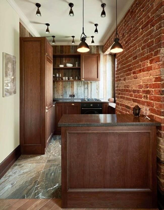 маленька кухня лофт планування