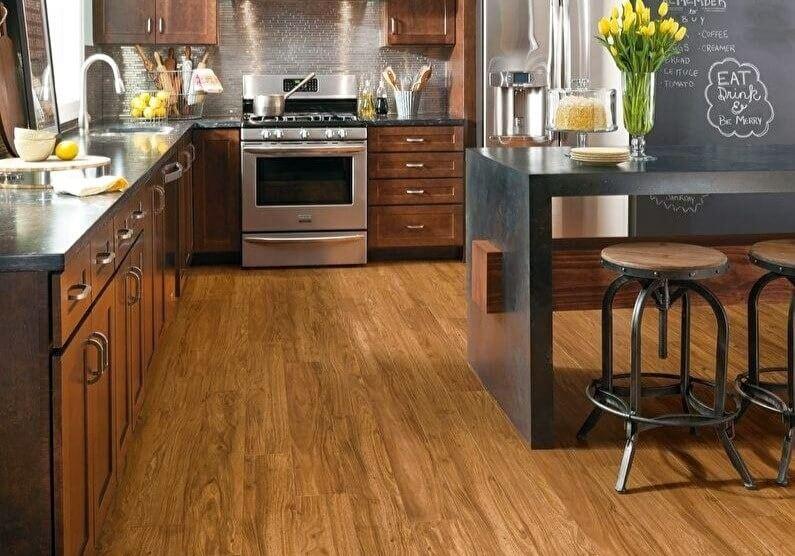 підлога на кухні в стилі лофт