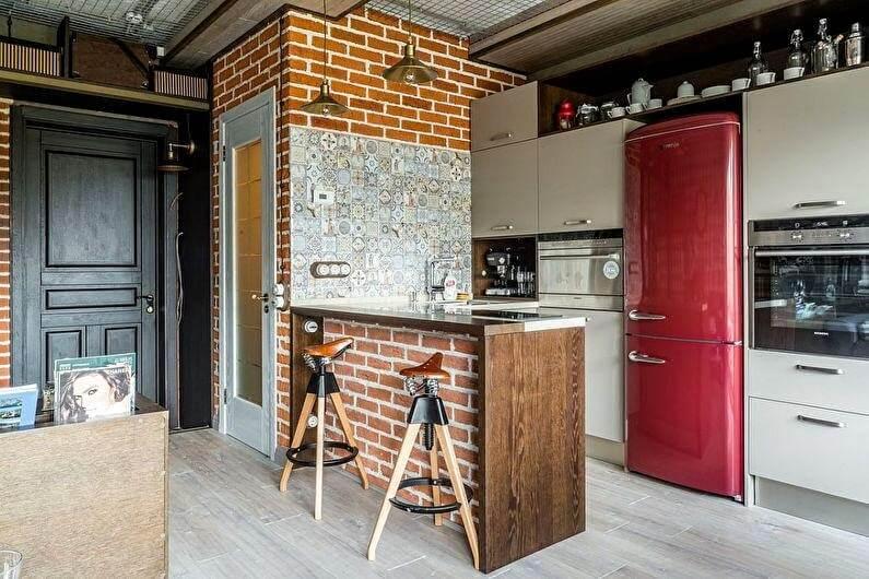 ретро холодильник на кухні