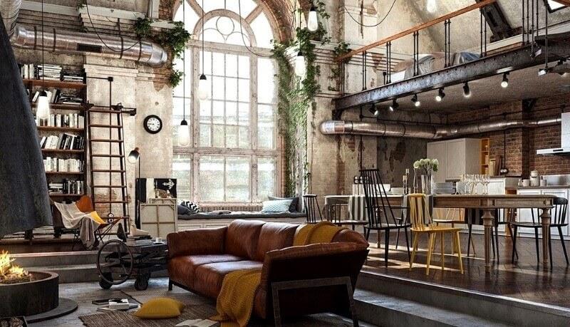 индустриальный лофт мебель