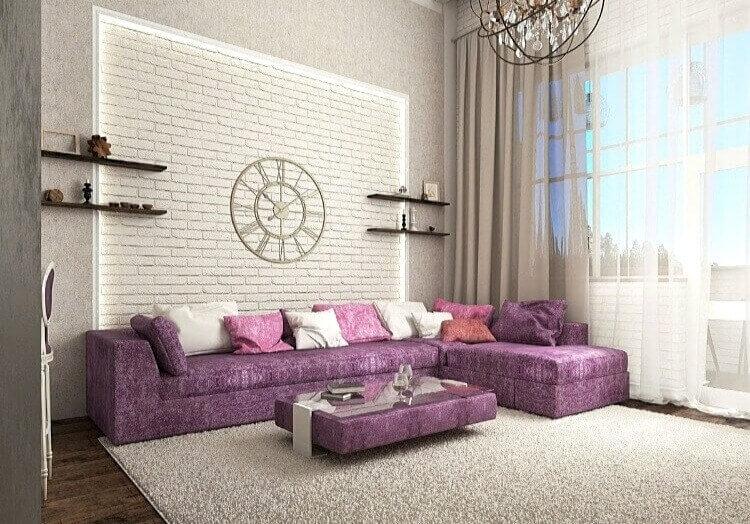 варианты мебели в гламурном лофте