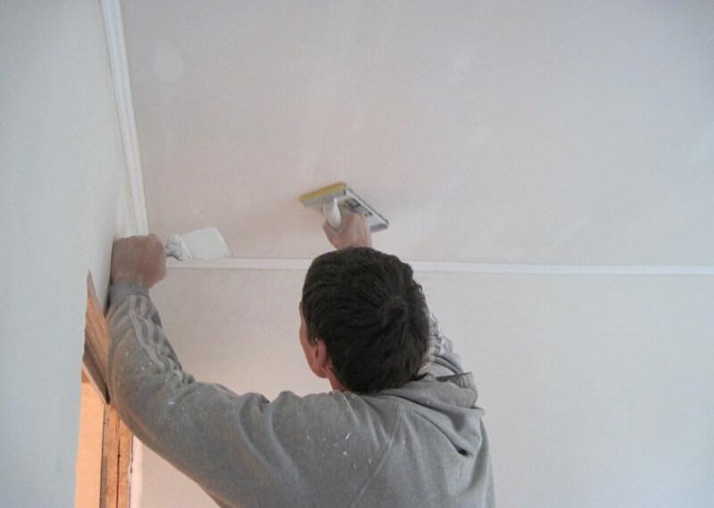 шпаклівка стелі під фарбування