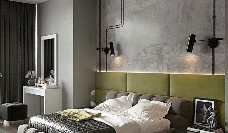 спальня стиль лофт