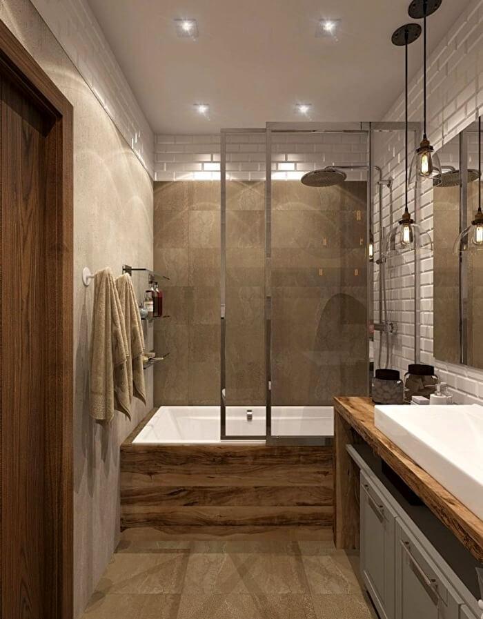 стильная ванная лофт
