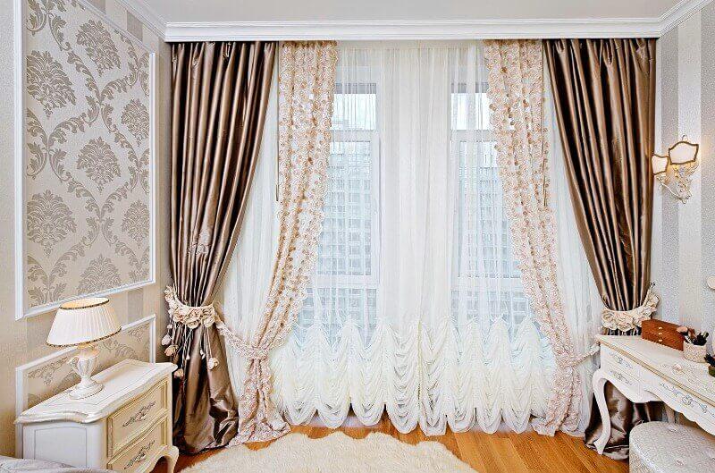 атласные шторы