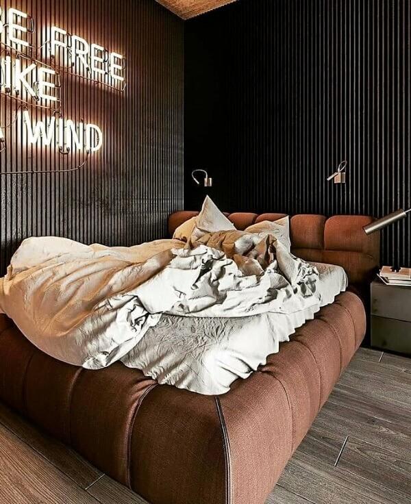 идеи для дизайна спальни лофт