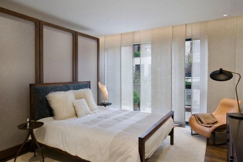 японські штори спальня