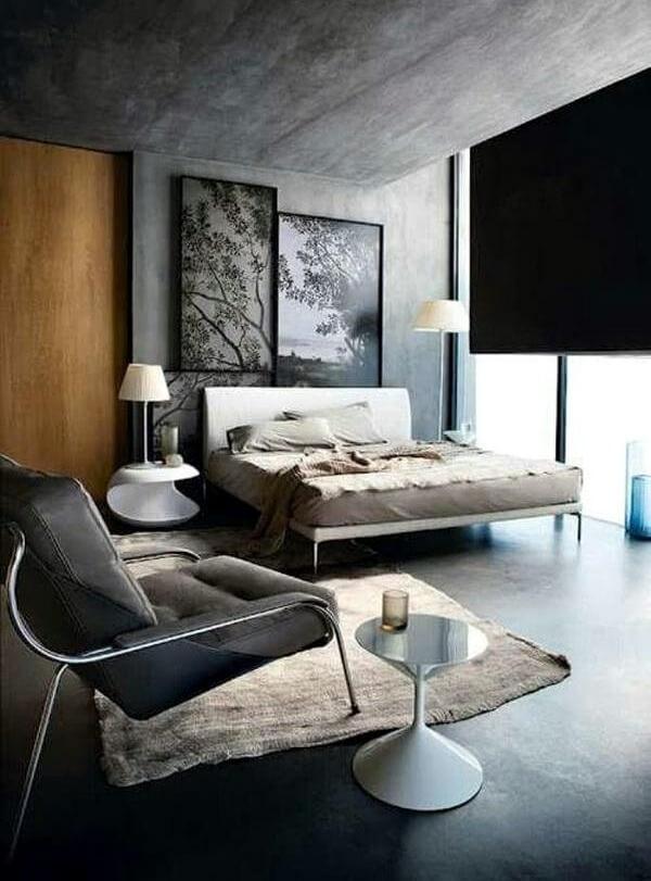 комната в стиле лофт для мужчины