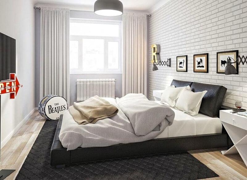 маленькая спальня лофт