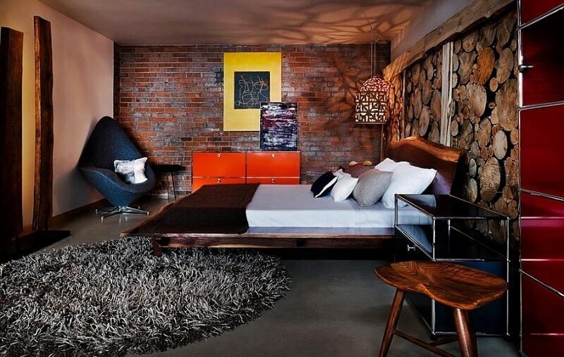 расстановка мебели в комнате лофт