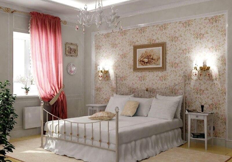 прованс штори в спальню