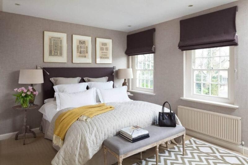 рулонные шторы спальня
