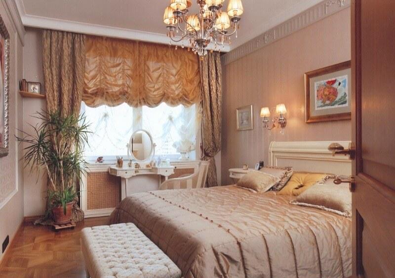 шторы французские в спальне