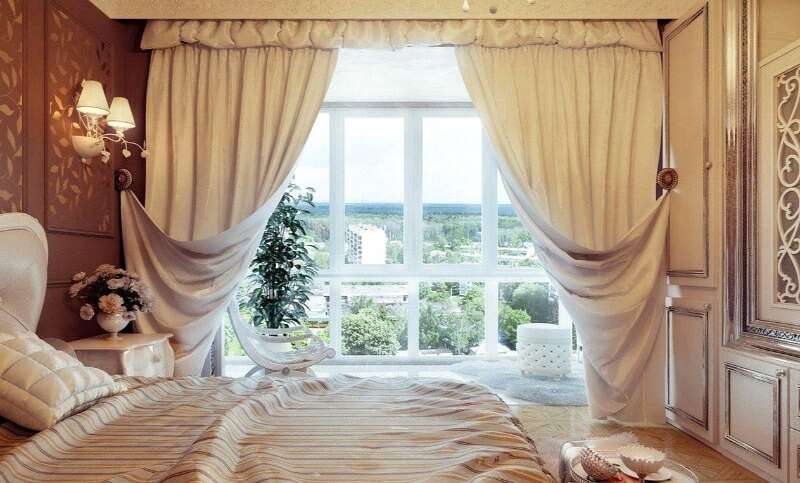 шторы классические спальня