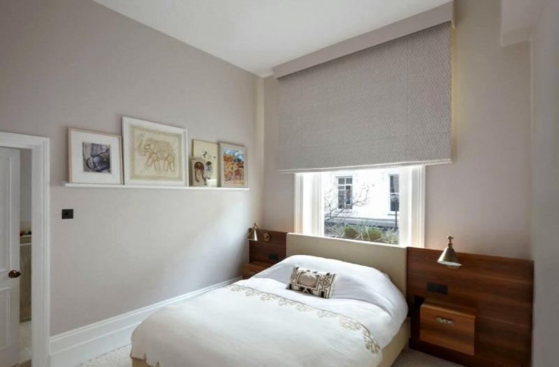 дизайн штор в маленькой спальне