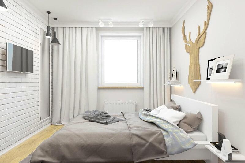 штори в спальню базовий відтінок