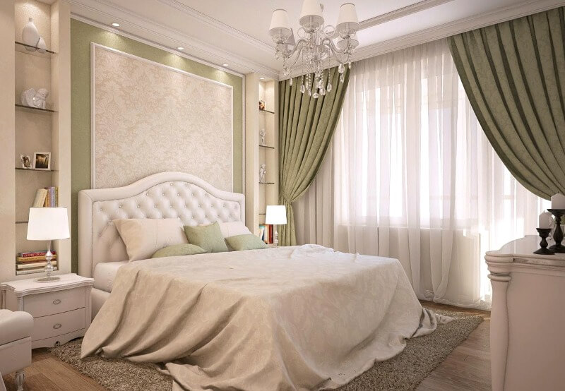 шторы в спальню в классическом стиле