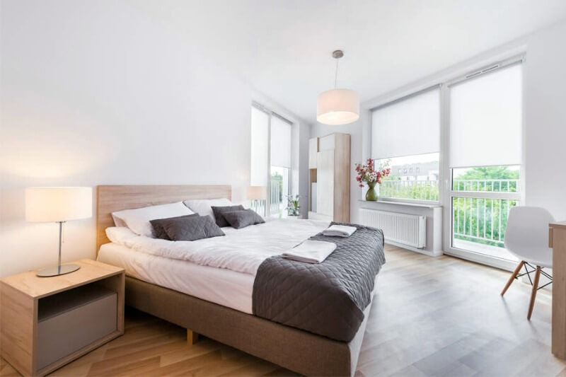 шторы в спальню минимализм