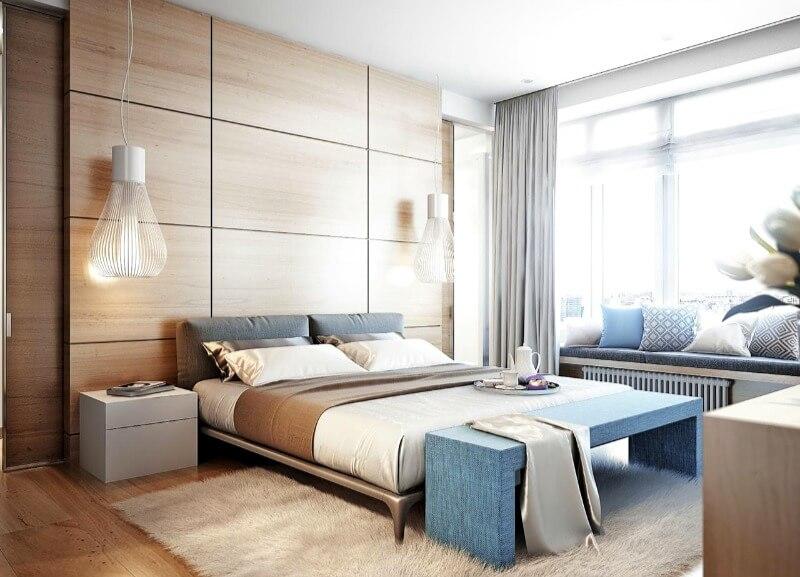 шторы в спальню современные