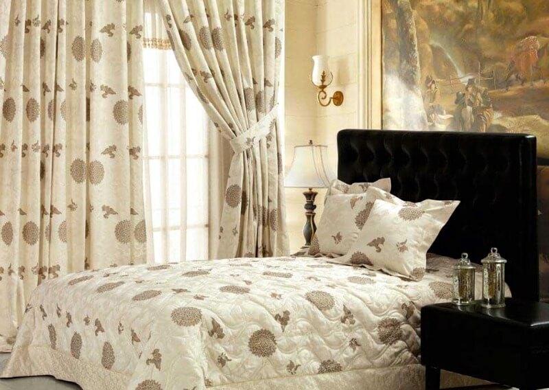 штори в спальню з бавовни