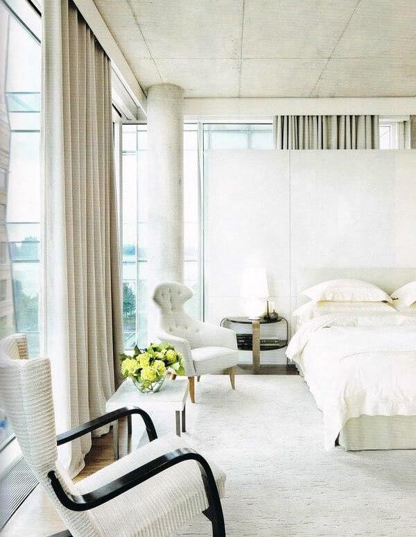 спальная комната в стиле лофт для женщины